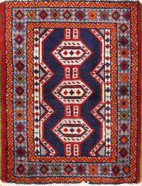 Geometric 2x3 Balouch Turkoman Bokhara Persian Area Rug