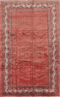 All-Over Geometric Boteh Design 5x10 Botemir Persian Area Rug