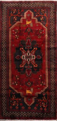 Animal Pictorial Geometric Tribal 4x9 Balouch Persian Rug Runner