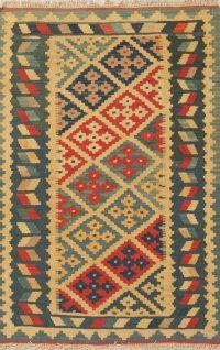 Geometric 3x5 Kilim Shiraz Persian Area Rug