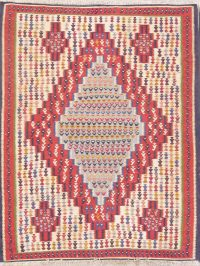Geometric 3x5 Kilim Senneh Persian Area Rug