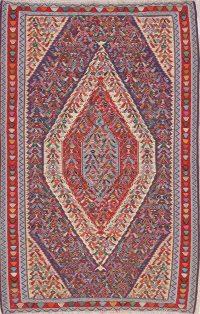 5x8 Senneh Kilim Bidjar Persian Area Rug