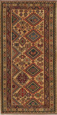 Geometric Tribal 5x10 Kilim Shiraz Qashqai Persian Rug Runner
