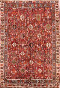 Vegetable Dye Tribal 7x10 Kashkoli Shiraz Persian Area Rug