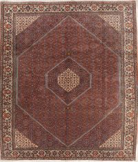 Vegetable Dye Geometric 8x11 Bidjar Persian Area Rug