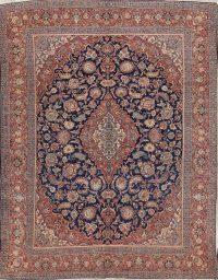 Floral 10x13 Kork Kashan Dabir Persian Area Rug