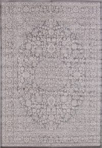 Outdoor/Indoor All-Over Floral Machine Made Belgium Oriental Area Rug 5x7