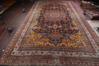 Palace Sized Vegetable Dye Pre-1900 Antique Bakhtiari Persian Rug 18x32