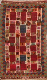 Tribal Kilim Shiraz Persian Area Rug 5x8