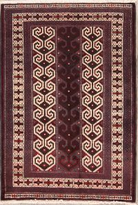 Geometric Turkoman Bokhara Persian Area Rug 3x4