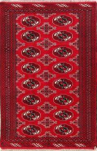 Geometric Balouch Bokhara Persian Area Rug 4x6