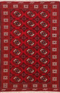 Geometric Balouch Bokhara Persian Area Rug 5X7