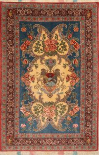 Vegetable Dye Pictorial Senneh Persian Area Rug 7x10