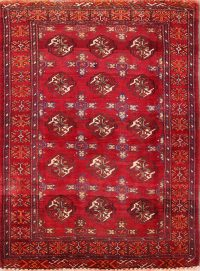All-Over Geometric Balouch Persian Area Rug 4x6