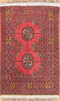 Geometric Balouch Oriental Wool Rug 1x2