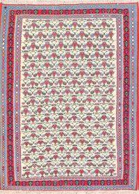 Floral Senneh Shiraz Persian Area Rug 4x5