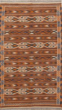 Geometric Kilim Balouch Persian Area Rug  4x6