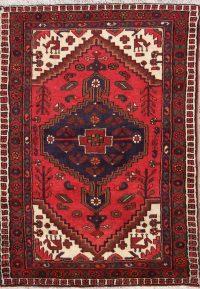 Geometric Hamedan Persian Tribal Area Rug 3x5