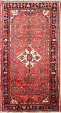 Geometric Hamedan Persian Area Rug 4x8