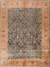 Pre-1900 Antique Reversible Sarouk Persian Area Rug 9x12