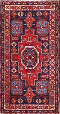 Geometric Kazak Machine Made Oriental Area Rug 2x4