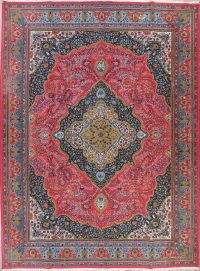 Pink Traditional Floral Kerman Persian Area Rug 10x13