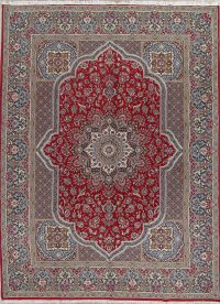 Red Traditional Floral Kashan Persian Area Rug 10x13