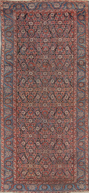 Antique Floral Heriz Persian Runner Rug 6x14