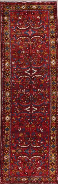 All-Over Heriz Serapi Persian Runner Rug 4x11