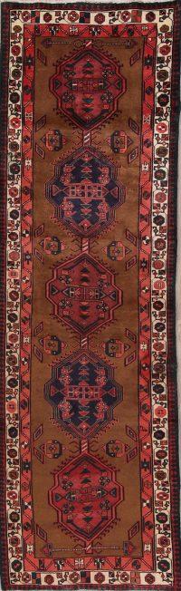 Geometric Meshkin Persian Runner Rug 3x10