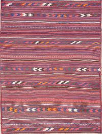 Stripe Kilim Shiraz Persian Area Rug 5x7