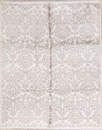 White Modern Oriental Area Rug 8x10