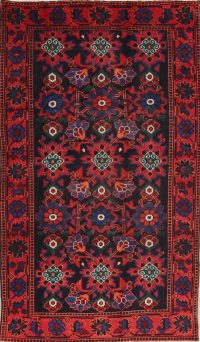 Black Floral Malayer Persian Area Rug 4x7