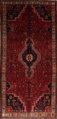 Red Tribal Hamedan Persian Runner Rug 5x11