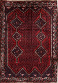 Red Geometric Lori Shiraz Persian Area Rug 7x9