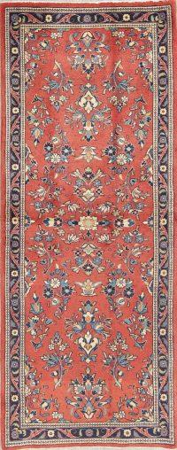 Floral Sarouk Persian Runner Rug 3x7