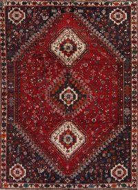 Red Tribal Geometric Kashkoli Persian Area Rug 7x10