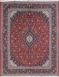 Floral Red Najafabad Isfahan Turkish Oriental Area Rug Wool 10x13