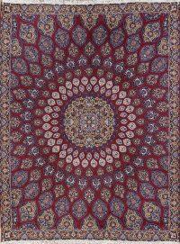 Geometric Red Oushak Turkish Oriental Area Rug Wool 9x12