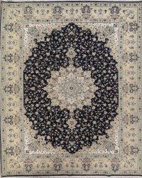 Floral Black Oushak Turkish Oriental Area Rug 10x13