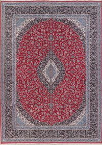 Floral Red Kashan Turkish Oriental Area Rug 10x13
