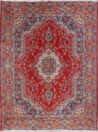 Floral Red Kerman Turkish Oriental Area Rug Wool 10x13
