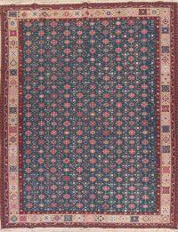 Floral Charcoal Sumak Turkish Oriental Hand-Woven Area Rug Wool 10x14