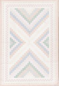 Geometric Kilim Dhurrie Oriental Hand-Woven Area Rug Wool 6x9