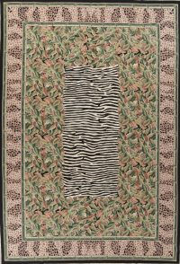 Transitional Animal PrintAubusson Chinese Hand-Woven Area Rug 10X14
