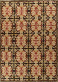 Transitional Floral Aubusson Chinese Hand-Woven Area Rug 11x16