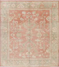 Vegetable Dye Muted Oushak Turkish Hand-Knotted Area Rug 10x12
