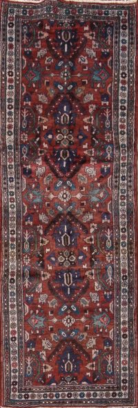 All-Over  4x10 Malayer Hamedan Persian Runner Rug