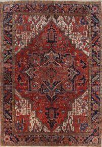 Geometric 9x12 Heriz Serapi Persian Area Rug