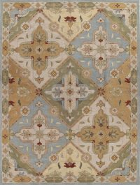 Hand-Tufted Oushak Agra Oriental Area Rug Wool 12x16